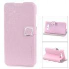 HELLO DEERE Protective Flip-open PU Leather Case w/ Holder for Mi 2S - Pink