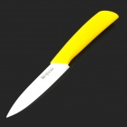 "Bestlead Non-slip Handle 4"" Horizontal Ceramic Knife - Yellow + White"