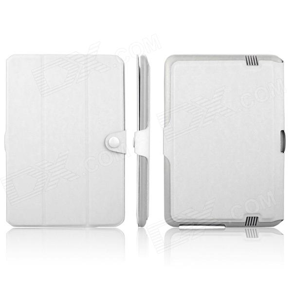 ENKAY ENK-7200 Simple Style Protective PU Leather Case Stand for Amazon Kindle Fire HD 8.9 - White