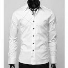 Men's Slimming Fit Long Sleeves Shirt - White (L)
