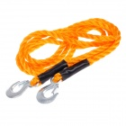 Longcang 2.8 Tons Nylon Heavy Duty Car Tow Rope - Orange + Black + Silver (5 Meters)
