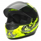 YOHE YH-993-M The Grim Reaper Pattern ABS Motorcycle Helmet - Fluorescent Green + Black (M)