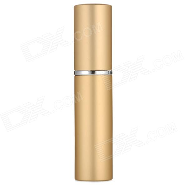 Portable Aluminum Alloy Perfume Spray Bottle - Golden (6mL)