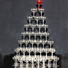 Goblet Cup Stack Game Toy - Transparent (56 PCS)
