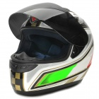 YOHE YH-993-M The 150th Anniversary of Italian Pattern Motorcycle Helmet - White + Black + Red (M)