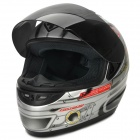 YOHE YH-993-M Stylish Cool Motorcycle Helmet - Silver + Black (SIze M)