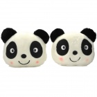 Panda Head Style Plush + PP Cotton Neck Protection Car Pillows / Cushions - Black + White (2 PCS)