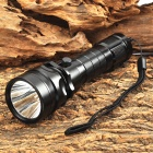 Cree XM-L T6 LED 600lm White Magnetic Control Dimming Flashlight - Black (1 x 18650)