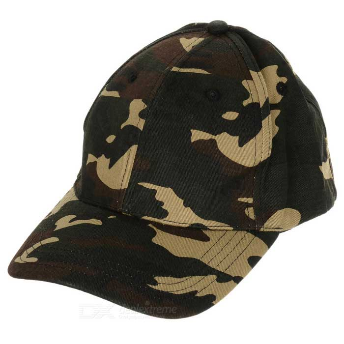 Stylish Camouflage Pattern Sun Block Hip-hop Cotton Peaked Cap - Camouflage rtdpart laptop keyboard base for asus t100 t100ta us the united states black 95