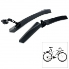 Yongruih F-889 Universal Plastic Front + Rear Mud Guard Set for Bicycle - Black