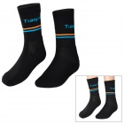 TianJin TJ0002 Cozy Air Permeable Sweat Absorbing Cotton Sports Socks - Black (1 Pair)