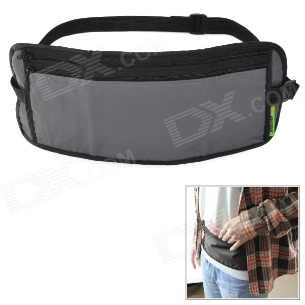 JOYTOUR J1009 Convenient Supper Thin Water Resistant Nylon Waist Bag - Gray + Black