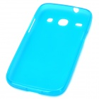 Protective TPU Back Case for Samsung i8260 / i8262 - Blue