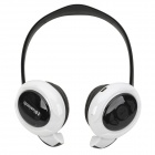 Qiyin BT-968 Bluetooth V3.0+EDR Wireless Stereo Headphone - White + Black