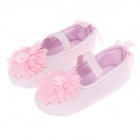 Flower Pattern Style Cotton Baby Shoes - Pink (6~9 Months / Pair)
