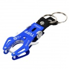 Camping & Hiking Aluminum Alloy Carabiner Hook Clip w/ Key Ring - Blue + Silver + Black