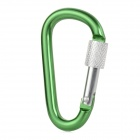 GG09 Convenient Multifunctional Durable Aluminum Alloy Carabiner - Green + Silver
