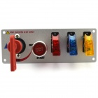Jtron Car Switch / Racing Switch / Modification Switch - Red + Blue + Yellow + Silver