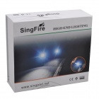 SingFire SF-807B 1225lm 5-Mode White Bicycle Headlamp w/ 5 x Cree XM-L T6 - Grey (6 x 18650)