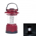 ZJ 209 3W 120lm 6000K 12-LED White Light Hurricane Lamp w/ Compass - Red + Black + Silver (3 x AA)