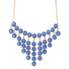 Cone Rivet Zinc Alloy Necklace for Women - Golden + Blue