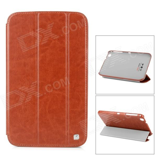 HOCO HS-L060 Protective PU Leather Case w/ Sleep Mode for Samsung Galaxy Tab 3 8.0 T311 - Brown pu leather tablet case cover for samsung tab 3 8 0 t310 t311 t315 sm t310 sm t311 luxury stand e book protective shell 8 0 inch