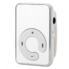 KD-MP3-02-YINSE MP3 Player w/ TF / Mini USB / 3.5mm - Silver + Silvery White