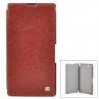 HOCO HX-L005 Protective PU Leather Case for Sony XL39h Xperia Z Ultra - Brown