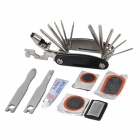 Yongruih YJGJ001 Convenient Repairing Tool Kit Set for Bicycle - Black + Silver