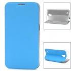 Tree Bark Pattern Protective PU Leather + Plastic Case w/ Stand for Samsung i9200 - Blue
