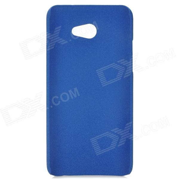 Sand Pattern Protective PVC Back Case for HTC 9060 - Blue protective soft pvc back case for htc sensation xl x315e g21 black
