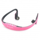 Sports Bluetooth V2.1+EDR Behind the Neck In-ear Stereo Headphone w/ Microphone - Pink + Grey
