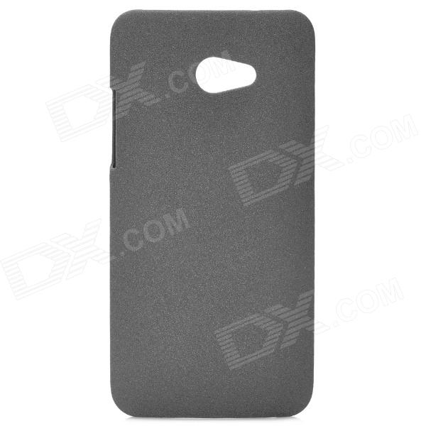 Sand Pattern Protective PVC Back Case for HTC 9060 - Grey protective soft pvc back case for htc sensation xl x315e g21 black
