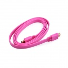 High Speed Multimedia Interface 4096 x 2160 Version HDMI V1.4 Male to Male Cable - Deep Pink (150cm)