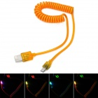 Lighting USB to Micro USB Spring Charging / Data Cable - Orange (40cm)