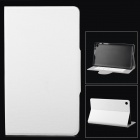 Stylish Protective PU Leather Case w/ Card Holder Slots for Google Nexus 7 II - White
