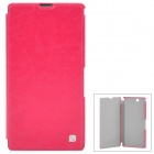HOCO HX-L005 Protective PU Leather Case for Sony XL39h Xperia Z Ultra - Deep Pink