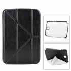 Transformable Protective PU Leather Case for Samsung N5100 - Black