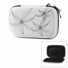 "Portable Protective EVA Zipper Case for 2.5"" HDD - Light Grey + Black"