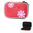 "Portable Protective EVA Zipper Case for 2.5"" HDD - Red + Black"