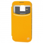 Metrans RS4 Protective PU + PC Case + Wireless Battery Charging Receiver for Samsung i9500 - Yellow