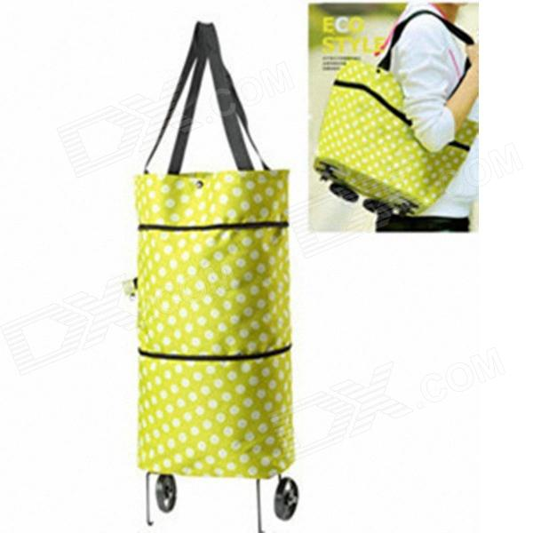 Multifunctional Oxford Fabric Single Shoulder Bag - Yellow + White