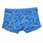 Men's Soft Breathable Modal Fabric Boxers Underwear - Blue (Free Size)