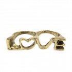 Dual-Ring Love Style Ring - Brass