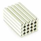 Powerful NdFeB Magnets - Silver (D3.2 x 25.4mm / 20 PCS)