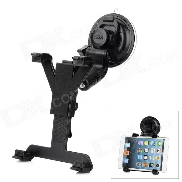 2309 Multifunction ABS + Silicone Rotatable Car Mount Holder Set for GPS / Tablets + More - Black 360 degree rotatable suction cup mount holder for iphone ipad ipod samsung gps mid more