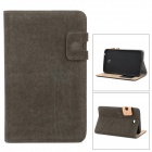 Squirrel Grain Protective PU Leather + Silicone Case for Samsung P3200 - Brown Grey