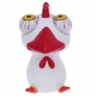 Funny Rolling Eyeballs Pop-out Cock Silicone Stress Reliever Toy - White + Red + Yellow