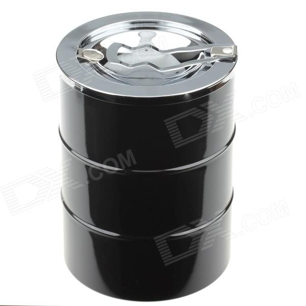 4477 Extrusion Switch Stainless Steel  Ashtray - Black + Silver ashtray