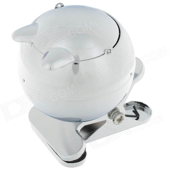 778A Stainless Steel Ashtray with Clip - Silver ashtray